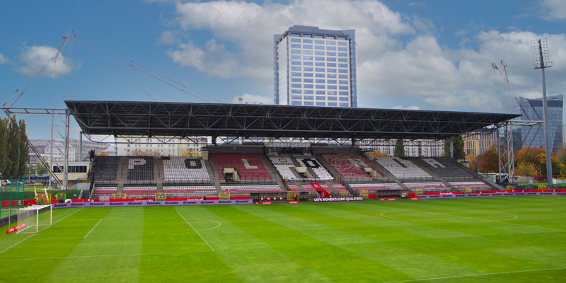 Het geluid van Polonia Stadium